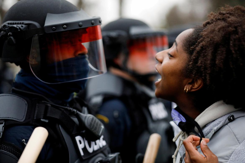 Protest in Minneapolis [AL Jazeera]