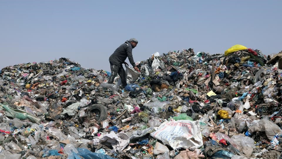 Millions of pieces of plastic headed to Iraq's landfills, rivers, and the sea/Reuters.