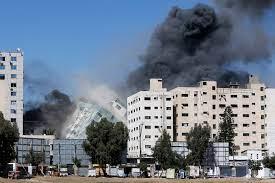 Al Jalaa building, Gaza [AP]