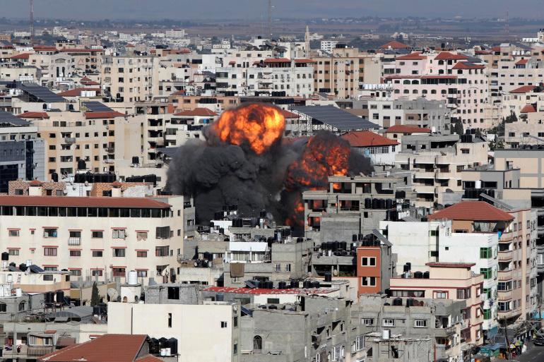 Gaza City, May 14, 2021. [REUTERS/Mohammed Salem]