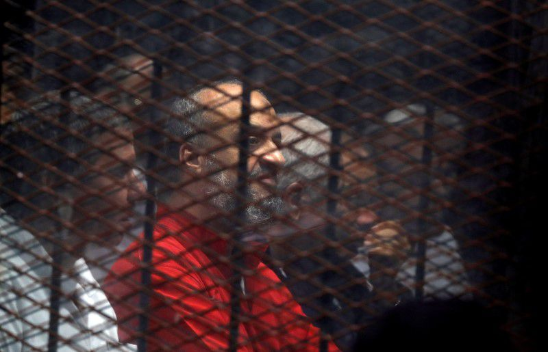 Muslim Brotherhood member Mohamed el-Beltagi in court in December 2018 [Reuters]