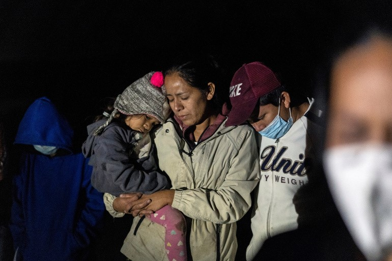 Many families try to flee poverty, violence, and natural disasters/Aljazeera.