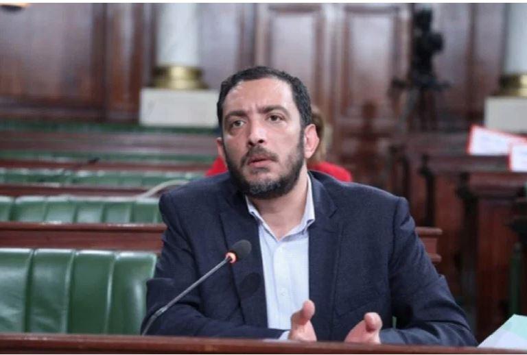 النائب ياسين العياري رأى أن قرارات الرئيس التونسي انقلاب عسكري (مواقع التواصل)