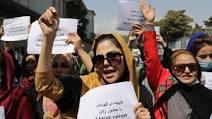 Afghan women protest in Kabul this week [AP]